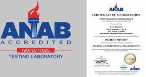 Link to JTL America's ANAB Certificate of Accreditation by the ANSI National Accreditation Board
